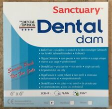 (FREE SAMPLE PACK 3/PK)   Sanctuary Dental Rubber Dam Latex 6X6 Thin Mint Green