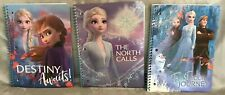NEW Lot of 3 Disney Frozen Elsa Anna and Olaf One Subject Spiral Notebooks
