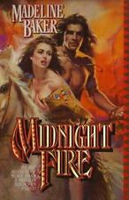 MIDNIGHT FIRE BY MADELINE BAKER IN SOFT COVER -GOOD CONDITION - FREE SHIPPING