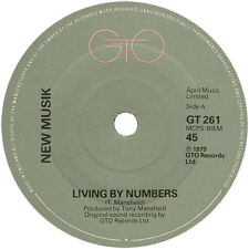"New Musik ‎– Living By Numbers   7"" Vinyl 45 rpm (New Wave/Synth Pop) Ex Con"