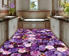 Petali di viola-soleggiata piscina 3D Pavimento Murale Foto Pavimentazione Carta