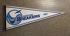 Vintage Football USFL 1982 BOSTON BREAKERS Pennant RARE W/Hard Plastic