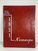 1951 NOROSCOPE FLINT NORTHERN HIGH SCHOOL YEARBOOK MICHIGAN Vintage