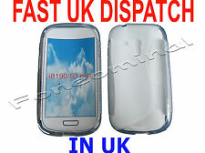 For Samsung Galaxy S3 Mini GT i8190 Pattern Gel Jelly Case Protector Cover White