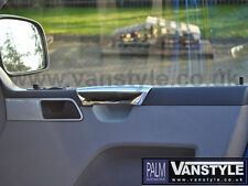 VW Transporter T5 Inner Door Handle Polished Covers 2003-2009 Chrome Grab Trim