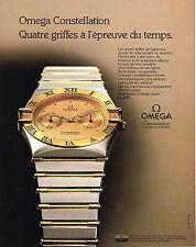 PUBLICITE ADVERTISING   1988   OMEGA  montre CONSTELLATION CHRONOMETER