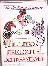 IL LIBRO DEI GIOCHI E DEI PASSATEMPI Maria Luisa Gennaro CDE Manuale Hobby di e