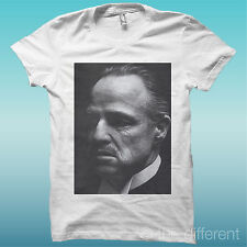 T-SHIRT MARLON BRANDO THE GODFATHER BIANCO THE HAPPINESS IS HAVE MY T-SHIRT NEW