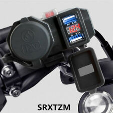 Plastic black 12V Motorcycle USB Phone Charger for charging GPS iPhone iPod PSP