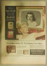 Sylvania TV Ad: New Golden Jubilee TV - New Features  Best Television from 1951