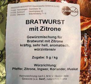 Gewürz für Bratwurst mit Zitrone, 1kg, Gewürz, Gewürze,