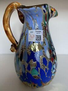 Murano Glass Jug Amber fantasy murrina by Imperio Rossi