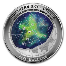 2016 Australia Silver $5 Color Domed Northern Sky Cygnus - SKU #105051
