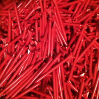 100 New Zero Friction Golf Tees 2 3/4 2.75 No Logo's Red 3 prong