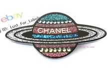 2017 CHANEL Saturn Planet Multicolor Glitter Resin Pin Brooch Space NWT Auth 17K