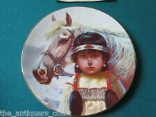 "Pride of American Indians collector plate by Perillo NIB ""Kindred Spirits"" [am9]"