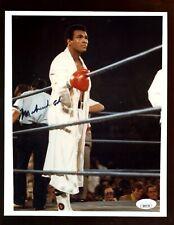 Muhammad Ali Holding Ropes Autographed 8 X 10 Photo JSA LOA