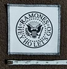 Ramones American Punk Rock Canvas Band Patch Hey Ho Let'S Go