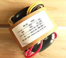 220V 30W r-core transformer for audio ampli amplificateur micros dac cd 30V+30V