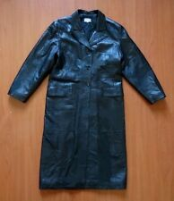 GUESS Womens Luxury Black Leather Coat 42 IT/ 10 UK