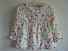 Girl's Ice Cream Print CottonTop Multi Color Long Sleeve Size 4-6