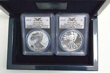 2013-W Silver Eagle 2 Coin Set PCGS PR70/MS70 Reverse/Enhanced