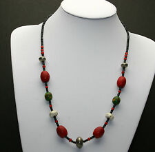 Afrika Halskette / African Necklace whit old venetian and tuareg beads