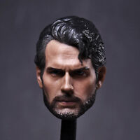 """Superman Head Sculpt 1/6 Scale Henry Cavill Carving For 12"""" Action Figure"""