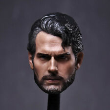 "Superman Head Sculpt 1/6 Scale Henry Cavill Carving For 12"" Action Figure"