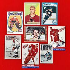 Gretzky/Orr/Hull/Beliveau/Howe/Sawchuk/Dryden/Horton - Rookie Reprints -Lot of 8