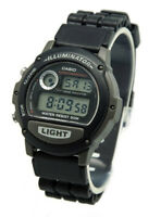 Casio Men's Digital 5-Year Battery Life Backlight Black Resin Watch W87H-1V