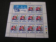 MALTA, SCOTT # 737(10), S/S 1989 10c. VALUE EUROPA (10 STAMPS) ISSUE MNH