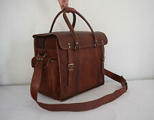 "LARGE 18x15"" Real Leather Duffle Bag Travel Bag Handbag Luggage Bag Hold-all Bag"