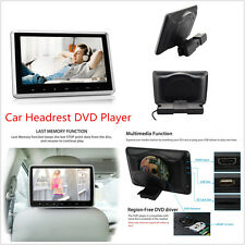 10.1'' Tablet-Style Car Headrest DVD Player with USB/SD/HDMI Port Remote Control