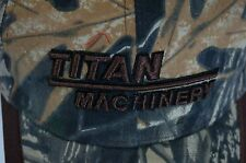 Titan Machinery men's hat cap camouflage brown adjustable
