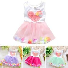New Kids Girls Summer Dress Princess Party Flower Tutu Dress Chic Skirts Clothes