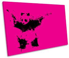 CORONA Vibes PANDA BANKSY Argento Spazzolato Alluminio 100x75 Pop Art//Immagine//Poster//Stampa