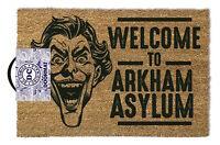 Official Joker Welcome to Arkham Asylum Doormat - 100% Coir Rubber Back Door Mat