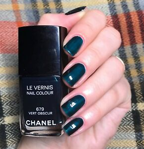chanel nail polish 679 vert obscur rare limited edition BNIB