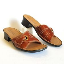 JOSEF SEIBEL Women Sandals Brown Leather with Strap size 38 / 7-7.5 US NEW #S7