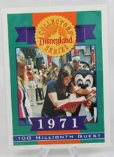 Disney Disneyland 40 Years Collectors' Series Card 1971 - 100 Millionth Guest!