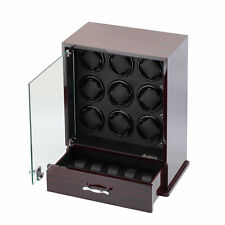 Diplomat Nine 9 Automatic Watch Winder Black Wood Display Storage Case Box NEW