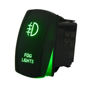 Laser Rocker Switch Backlit Car Running Daytime Fog Driving Light Bar On-Off 20A