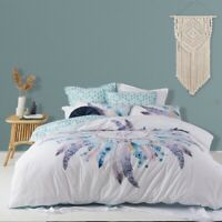 Logan & Mason Taraji Quilt Cover Set Teal
