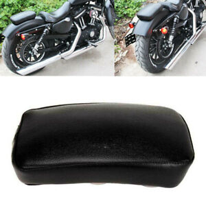 Rear Pillion Passenger Seat Pad w/ 6 Suction Cup For Harley Bobber Universal SU