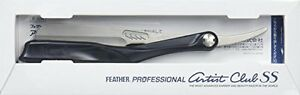 FEATHER Professional Artist Club SS Straight Razor Black Free Ship From Japan