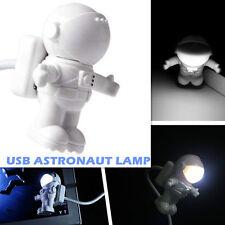 Flexible Astronaut LED USB Night Light Mini Lamp for Laptop PC Notebook Read HOT