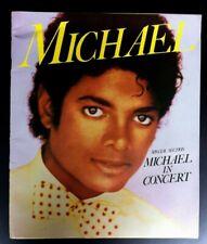 Michael Jackson Soft Back Book. Michael In Concert. Souvenir Programme. 1984.