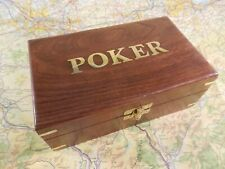 Boxed Poker Cards & Chips Set Wooden Box - Sealed Great Father's Day Gift
