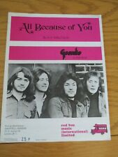 Geordie - All because of you - Music Sheet.